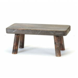 Wood Display Stool