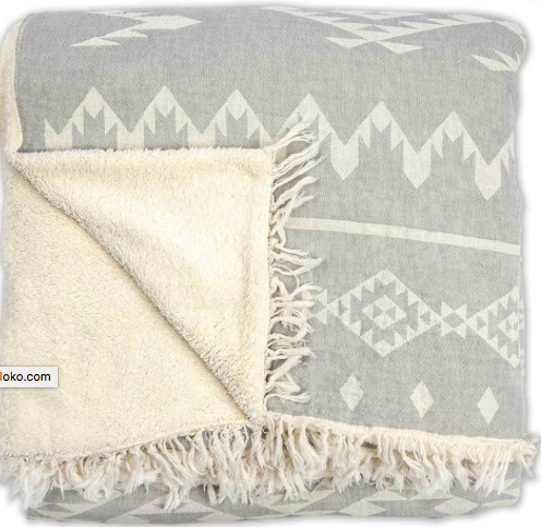 Pokoloko Fleece-lined throw