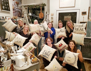 Stencilled Pillows | April 8