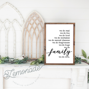 We Do Family | Wooden Sign