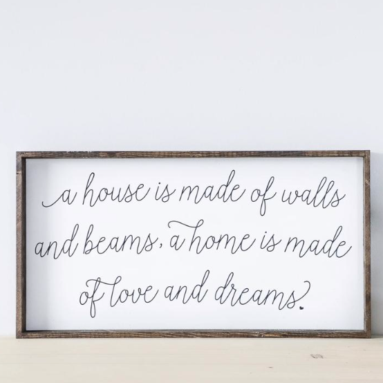 Walls and Beams | Wooden Sign