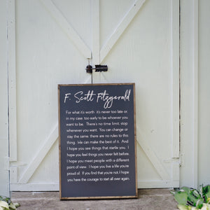 For What It's Worth | Wooden Sign