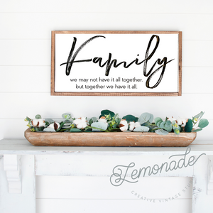 Family | Wooden Sign
