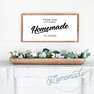 From Our Kitchen | Wooden Sign
