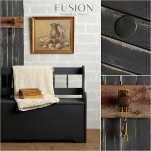 Fusion Mineral Paint is non-toxic, lead free with zero VOCs.  It has a built in top coat, easy to apply with a smooth matte finish.  Visit us on Main Street in Uxbridge, Ontario.