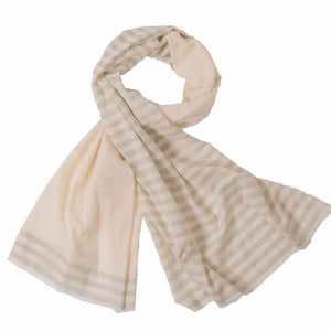 Scarf | Half Stripped Grey
