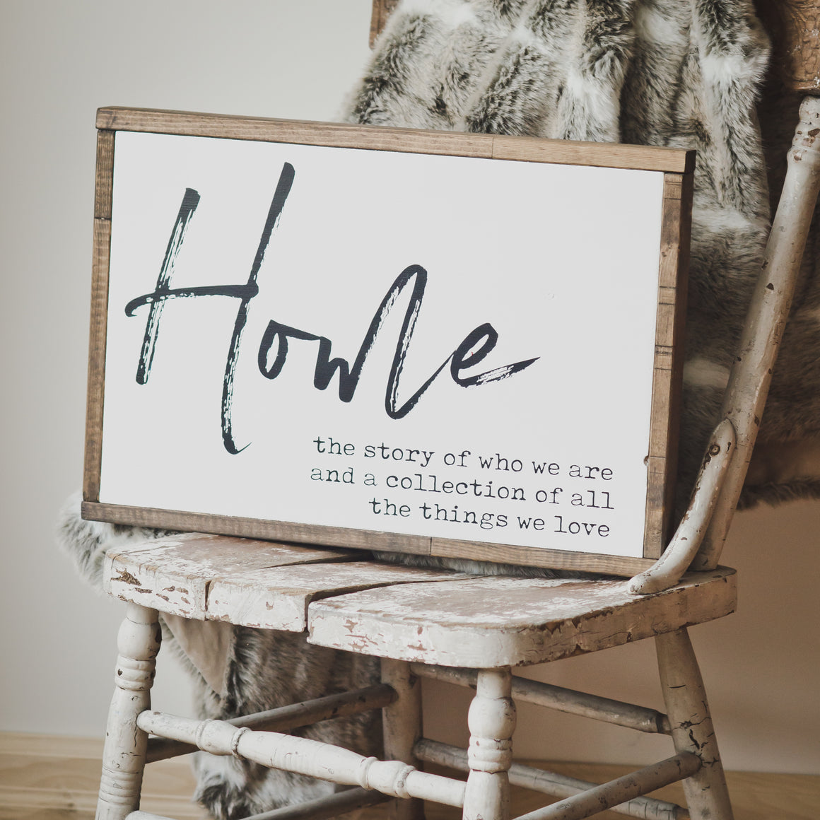 Home | Wooden Sign