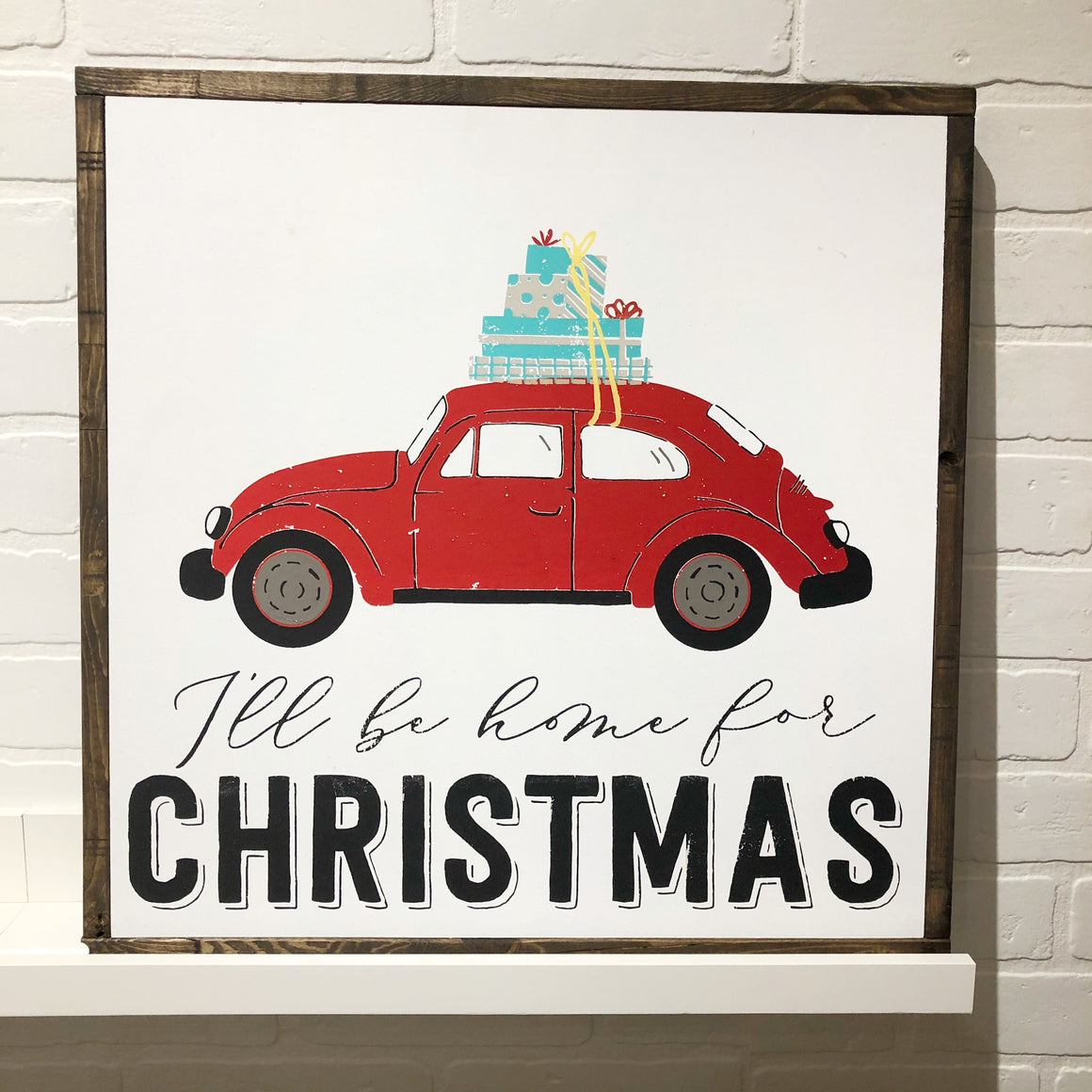 Holiday Wooden Framed Sign with Transfers | Nov. 16