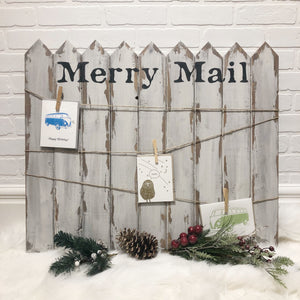 Picket Fence Mail Holder | December 13 - The Lemonade Stand