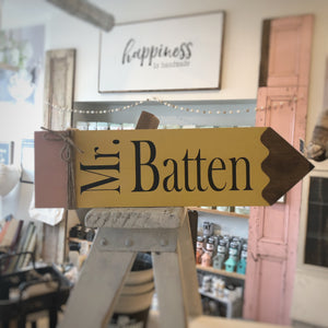 Teacher's Pencil | Wooden Sign