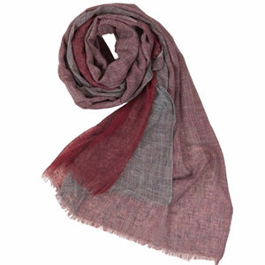 Scarf | Tri-Coloured Red