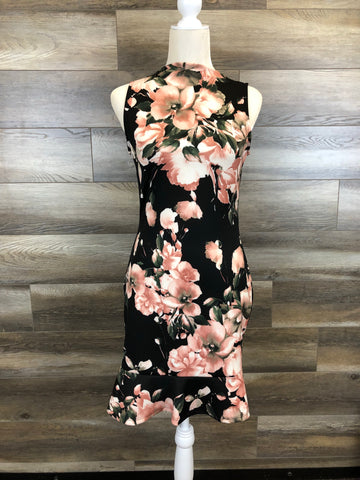 Black Floral Fashion Dress