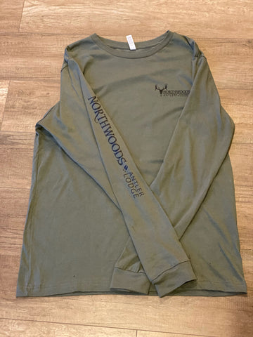 Military Green Long Sleeve T-Shirt