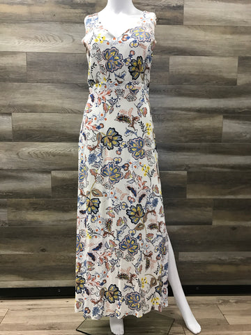 Long Ivory Floral Dress