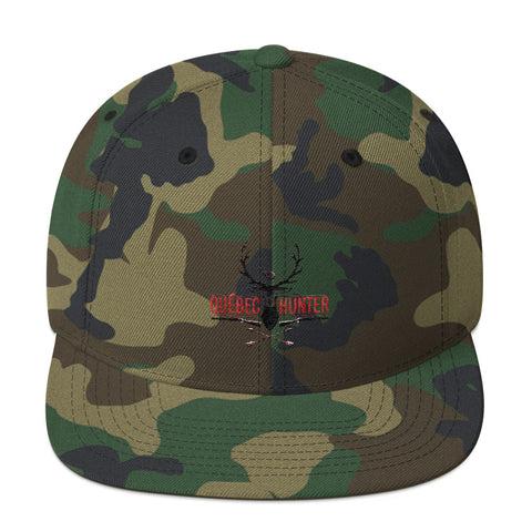 Quebec Hunter Snapback Hat Camo