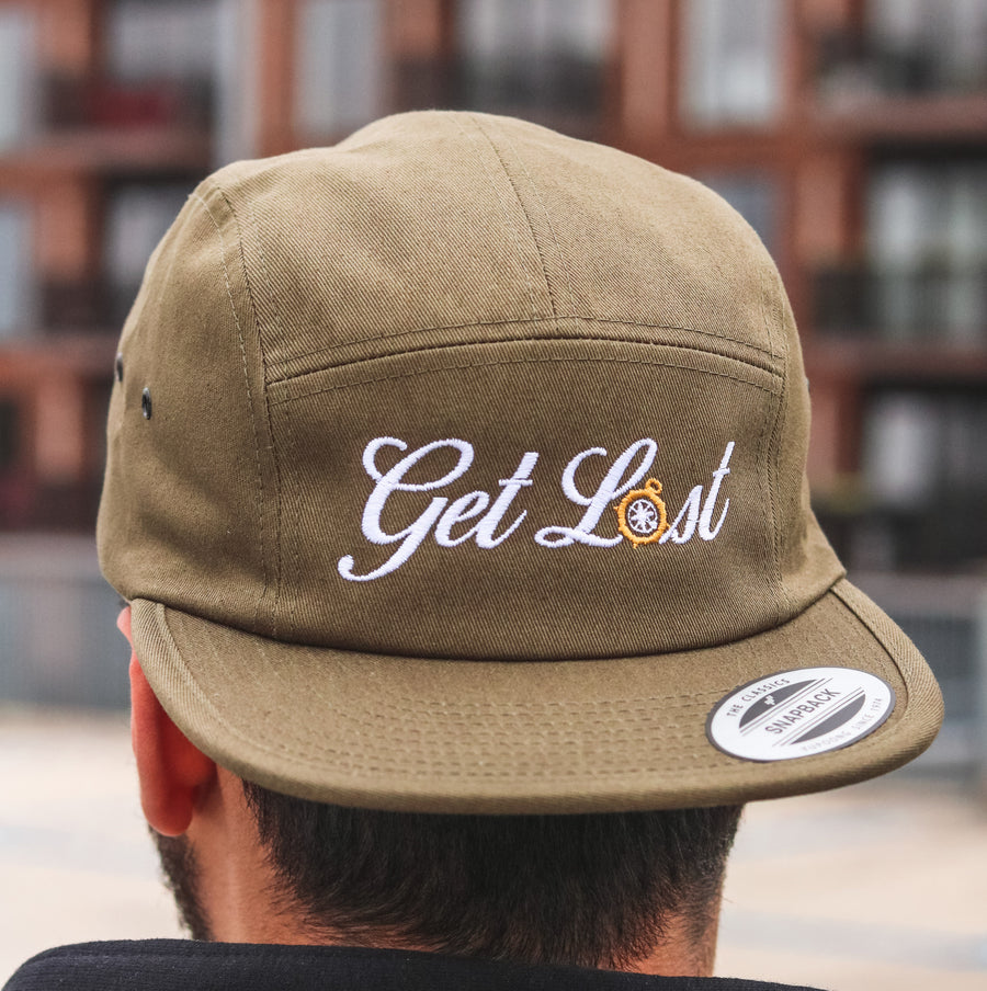 Get Lost Logo Five Panel Hat