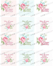 Sugar Stamp Happy Birthday Rose
