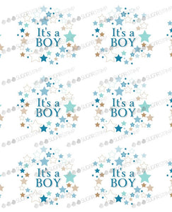 Blue Star - It's a Boy Sugar Stamp - marcelpaa