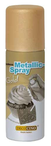 Lebensmittelfarbe Metallic Spray Gold, 50 ml