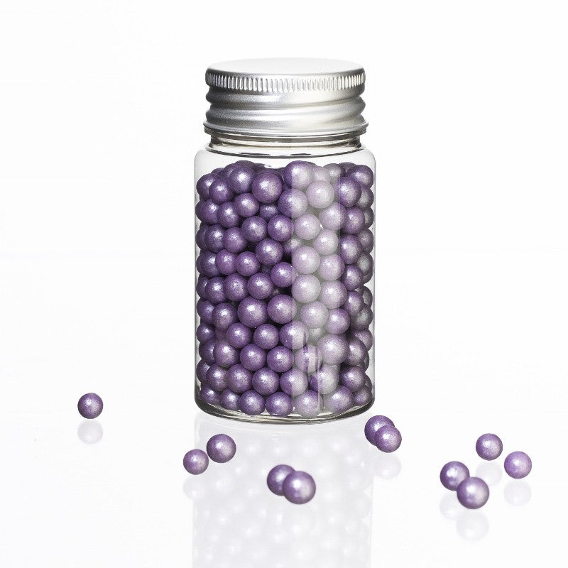 Zuckerperlen gross Violett, 40 g