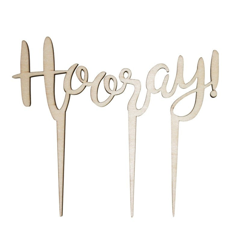 Cake Topper aus Holz HOORAY!