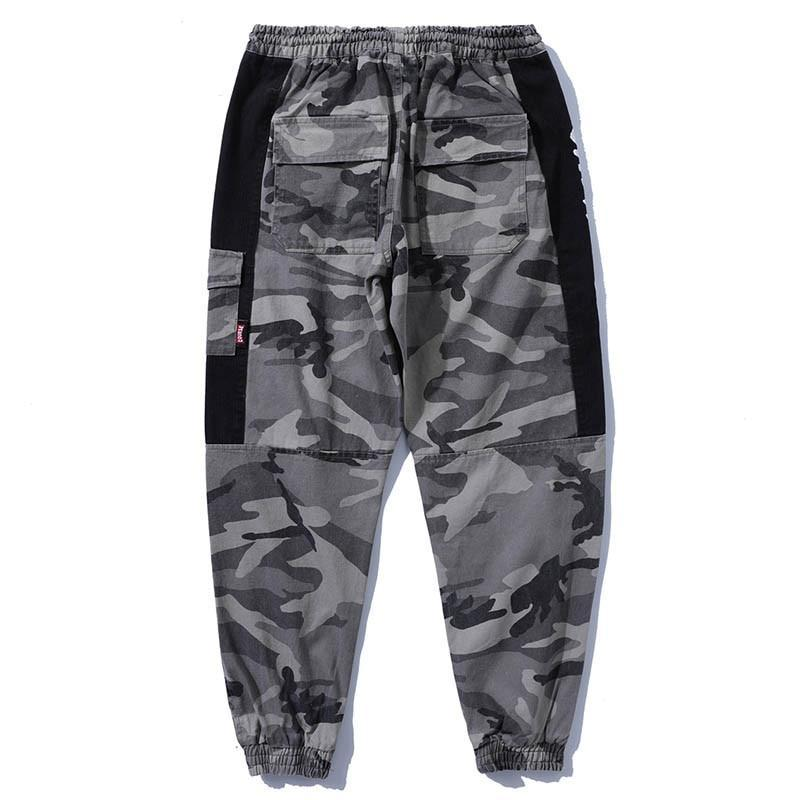 Grey Camouflage Pants - Moodyourself