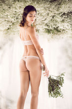 Load image into Gallery viewer, ELLIPSE Celestial Stretch Lace Floral Open Back Brazilian Panty