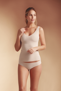 Light Control Shapewear V Neckline Top