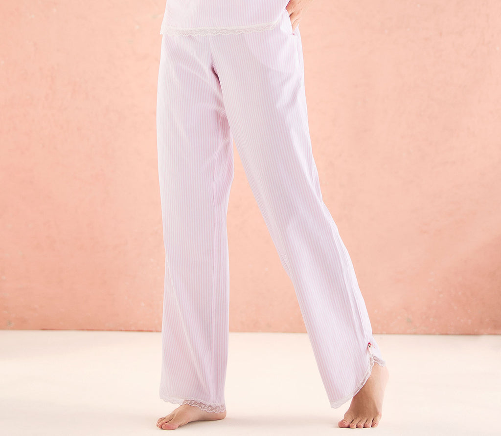 Botanical Pink Striped PJ Pants