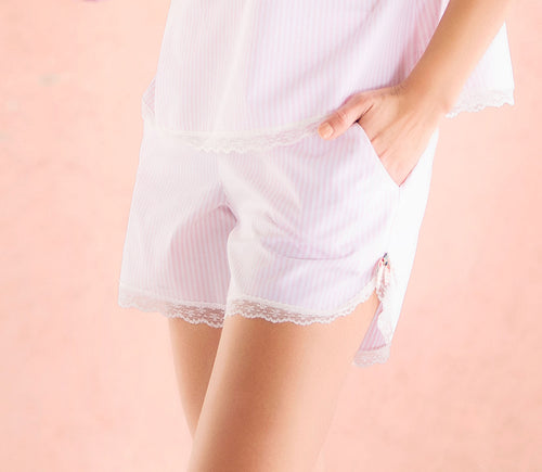 Ellipse Pink Striped PJ Shorts