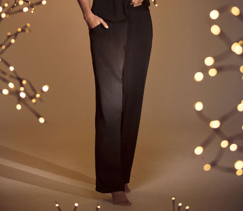 Ellipse Cosmic Black Viscose PJ Pants