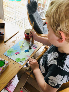 Balancing Motherhood and Art: how to paint around your children.