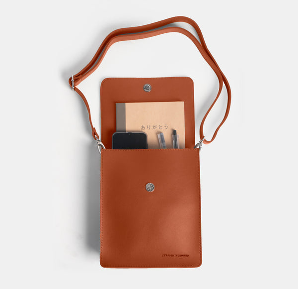 D. V. L. Cross Body Bag (Tan)