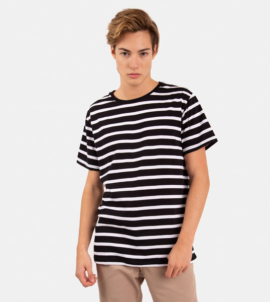 Essential Blend Striped Tee (Black)