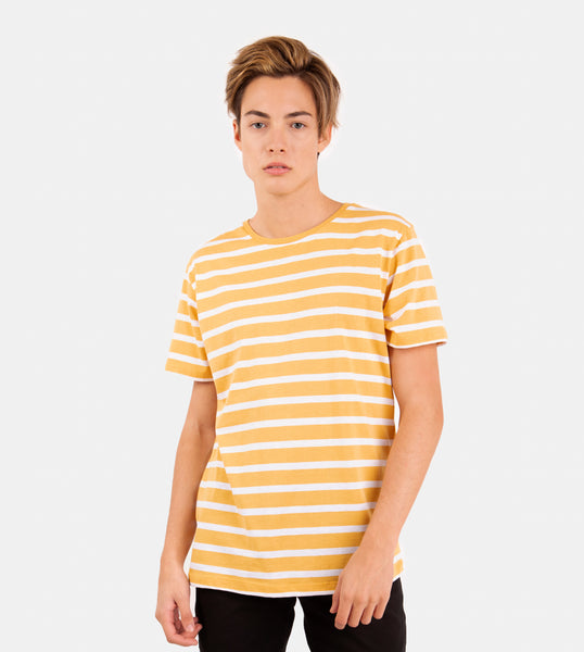 Essential Blend Striped Tee (Mustard)