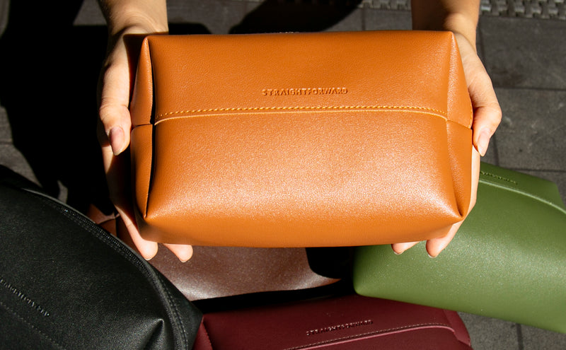 Daily Vegan Leather Pouch (Tan)