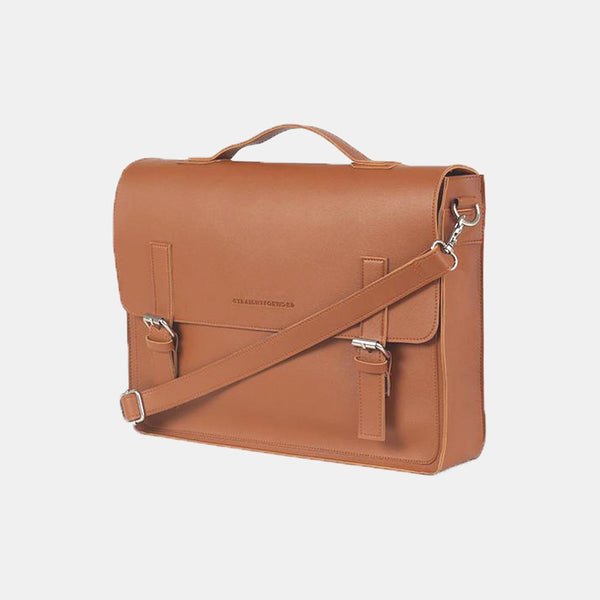 D. V. L. Satchel Bag (Tan)