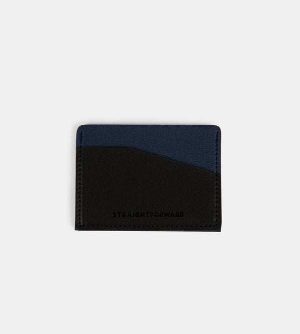Daily Vegan Leather Card Holder (Blue)