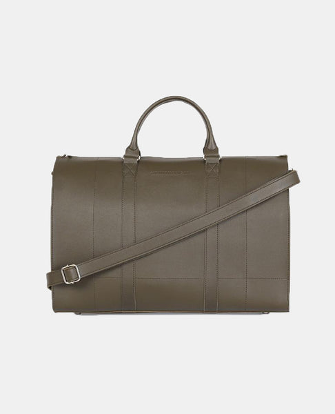 Leather Duffel Bag (Army Green)
