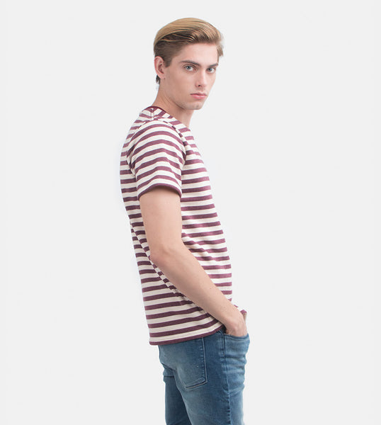 Everyday Striped Tee (Crimson)