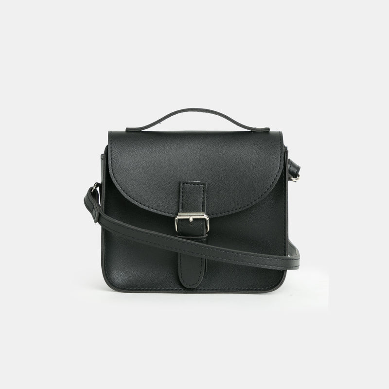 D.V.L. Tiny Satchel Bag (Black)