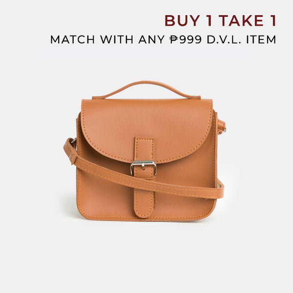 D.V.L. Tiny Satchel Bag (Tan)