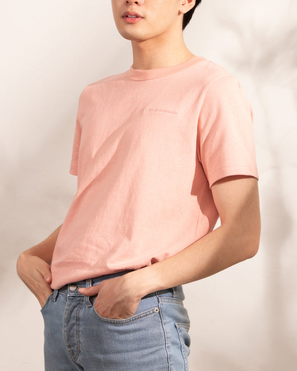 Men's Heavyweight Basic Tee (Coral)