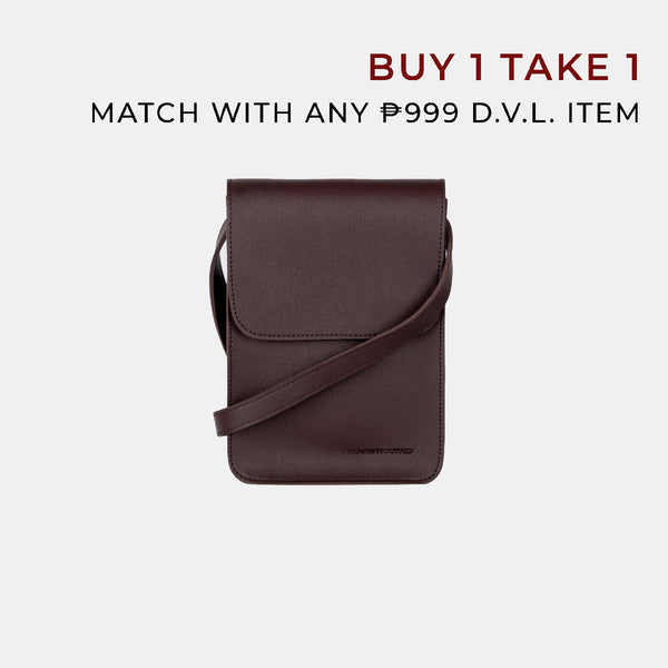 D.V.L. Mini Cross Body Sling Bag (Chestnut)