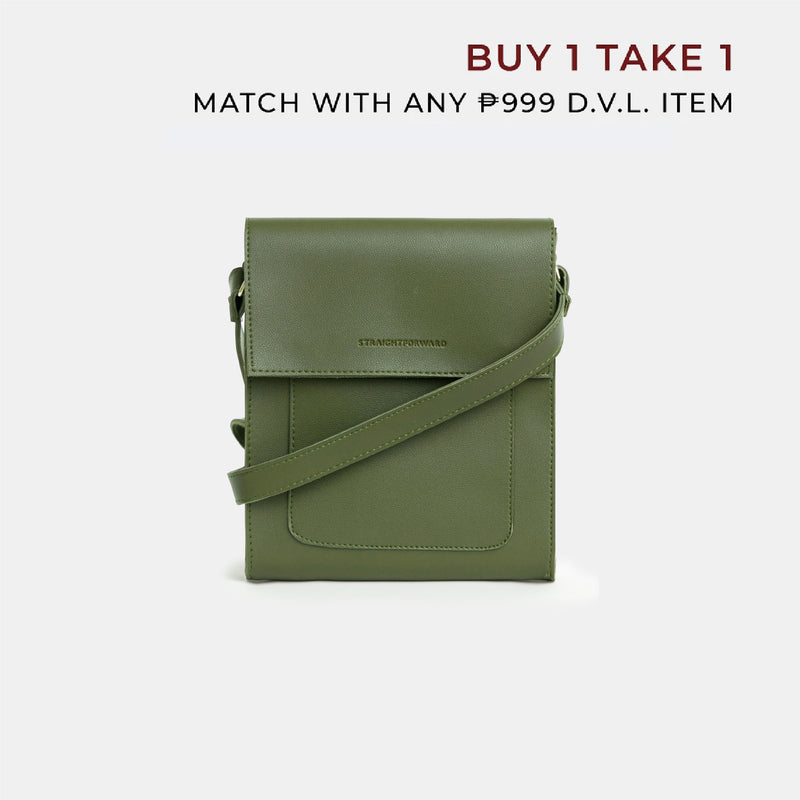D.V.L. Mini Multi-pocket Sling Bag (Army Green)