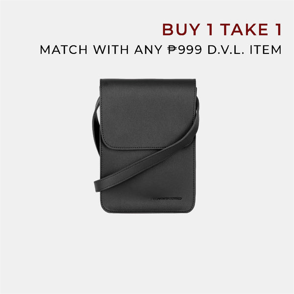 D.V.L. Mini Cross Body Sling Bag (Black)