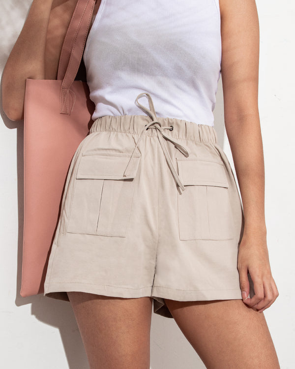 Easywear Pocket Patched Shorts (Taupe)