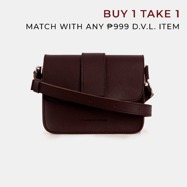 D.V.L. Mini Flap Square Bag (Chestnut)