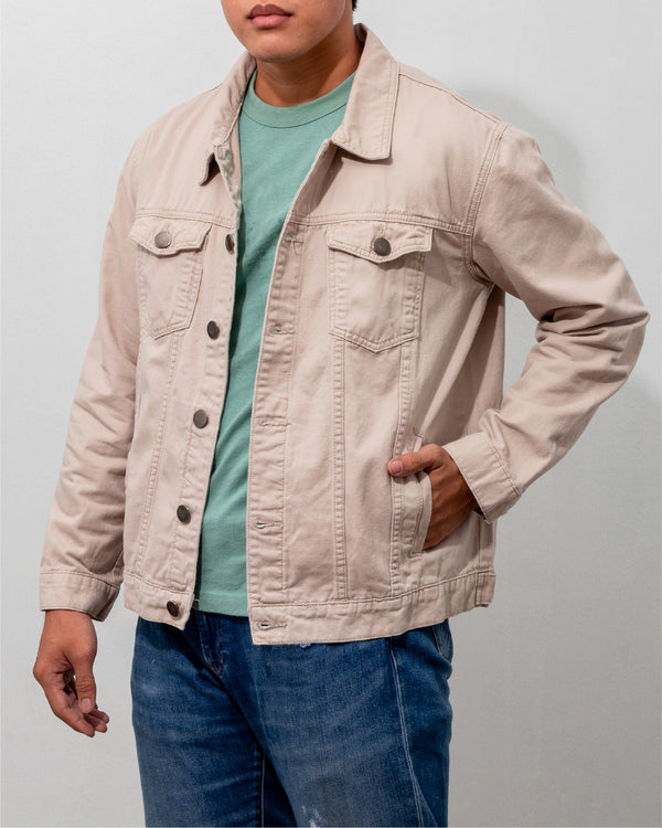 Everyday Cotton Twill Jacket (Taupe)