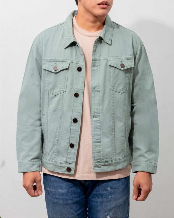 Everyday Cotton Twill Jacket (Mint)